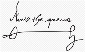 Firma de Ana Bolena