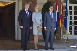 En la puerta del Palacio de la Moncloa con el Presidente Mariano Rajoy