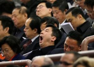 Bostezos en el Parlamento China