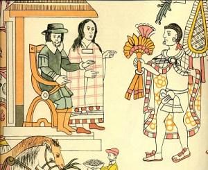 Hernán Cortes y la Malinche