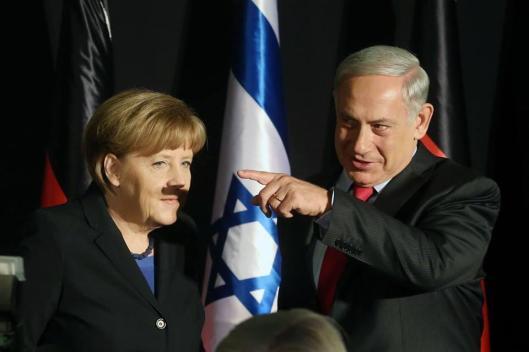 Merkel y Netanyahu