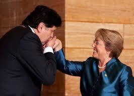Bachelet y presidente del Perú