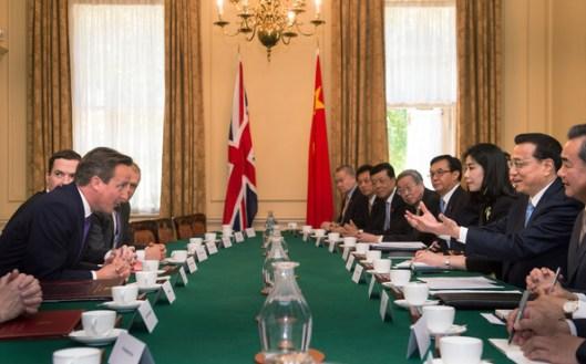 Chinese Premier Li Keqiang en visita al Reino Unido
