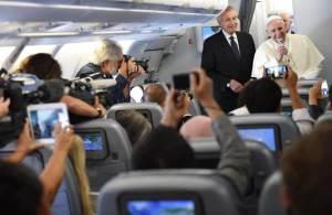 Periodistas en el avión