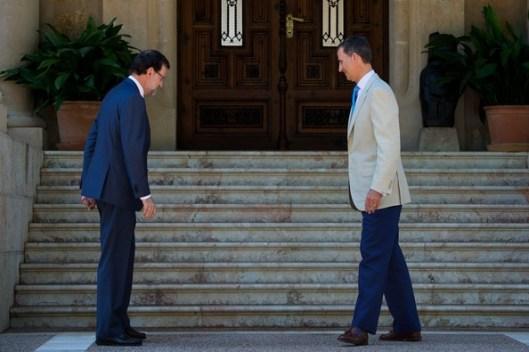 El presidente Rajoy y el rey Felipe en Marivent
