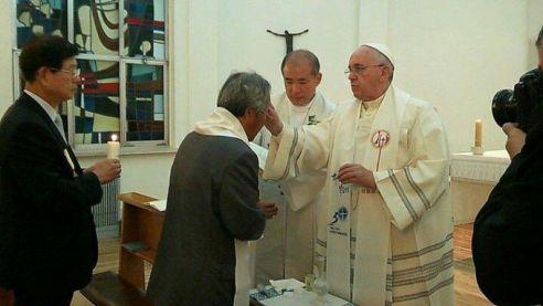 en la Nunciatura de Seul Bautizo_Papa_Francisco_Franciscus