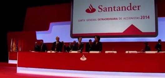banco Santander junta