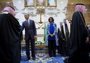 Los Obama en Riad
