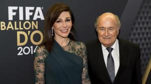 presidente de la FIFA, Joseph Blatter  y su novia, Linda Barras,  Foto EFE