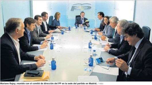 Rajoy sede PP oct 15
