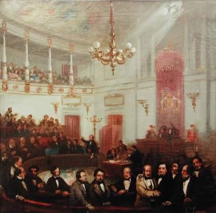 Escena_congreso_de_los_diputados_siglo_XIX_Eugenio_Lucas_Velázquez