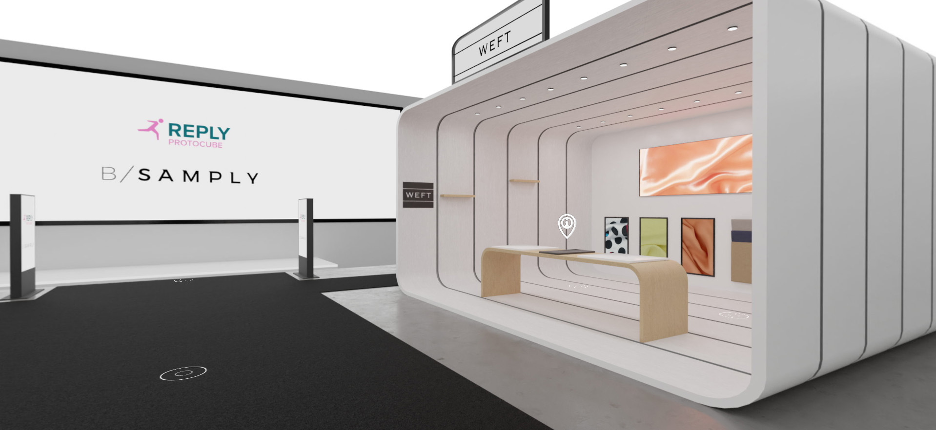 Bsamply Tradeshow Project 3D virtual booth 01