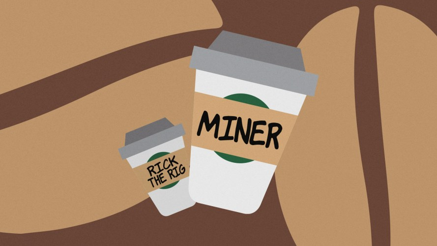 It's not clear how long they piggybacked the Starbucks power supply, so it's hard to say how much Bitcoin he mined while sipping his frappé.