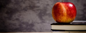 Jabłko leżące na książce