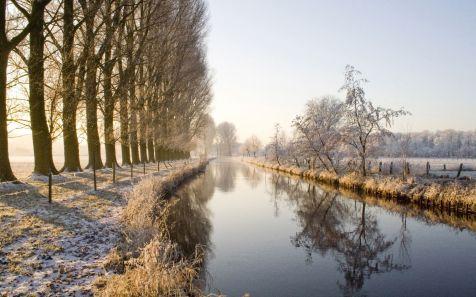Niers in der Region Niederrein, Deutschland (River Niers in the Niederrhein region, Germany)