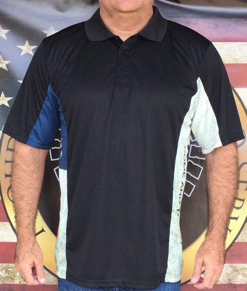 Defiant Texan Distressed Polo Shirt