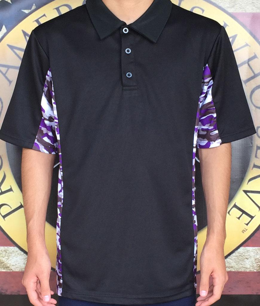 Barney Style Camo Polo Shirt