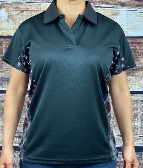 Women's 2nd Amendment patriotic polo shirt