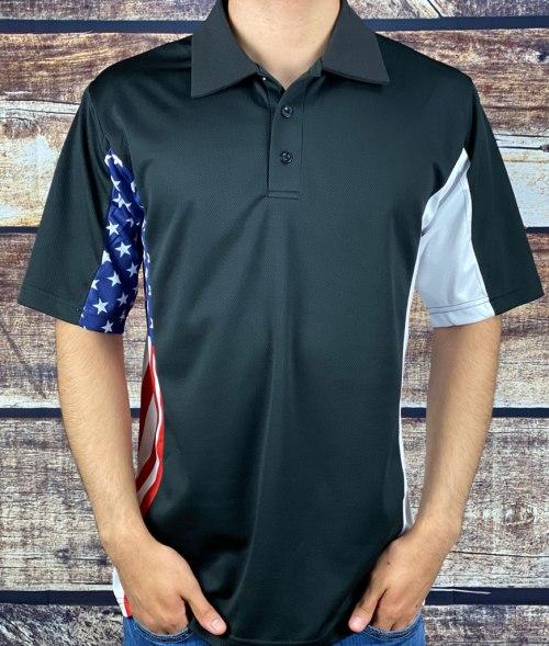 Coast Guard Inspired Patriotic Polo Shirt