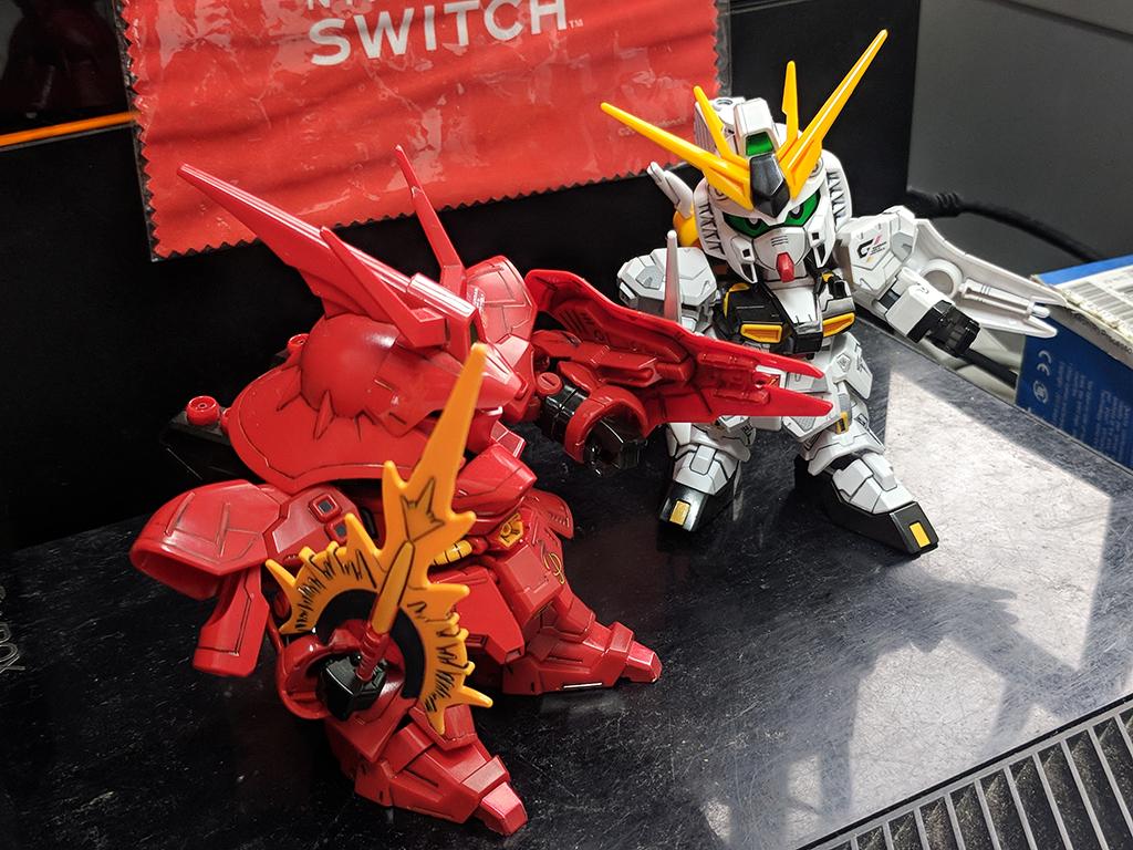 SD Nu Gundam VS Sazabi -宿命之對決- 套裝【GDHK III限定】