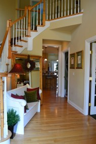 BEFORE - Foyer Staging
