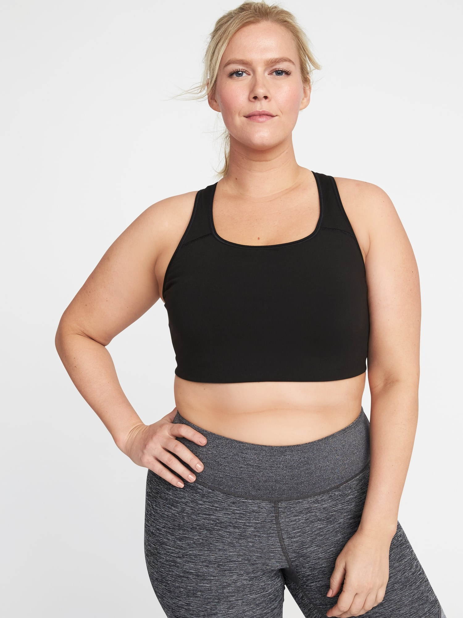 1db97a1b292 Medium Support Plus-Size Racerback Sports Bra by Old Navy - Proud Mary