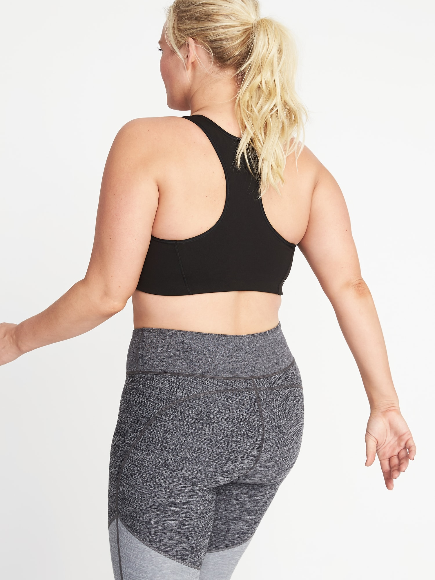 1fb260b8b5476 Home Shop Medium Support Plus-Size Racerback Sports Bra by Old Navy.  Categories  All Products