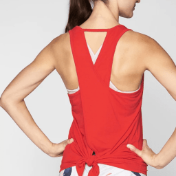red activewear tops