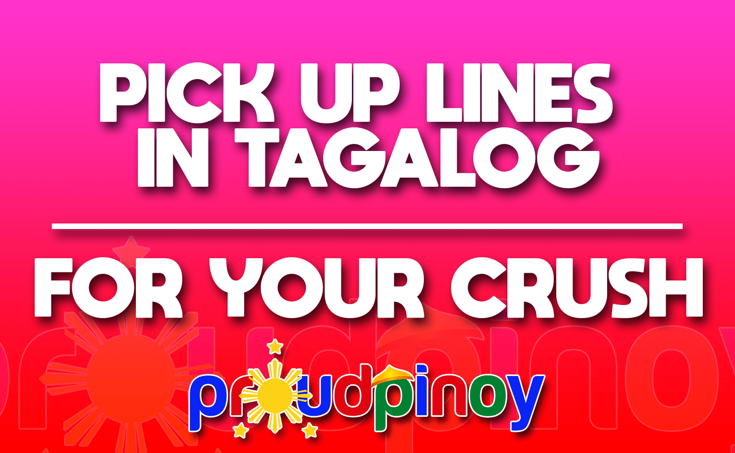 Pick up lines 2017 tagalog 2019