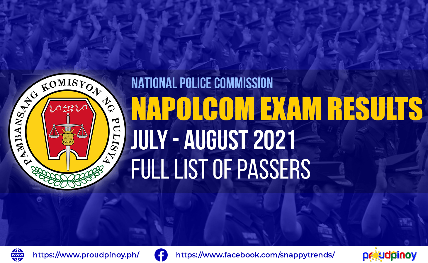 NAPOLCOM exam results july-august 2021 - full list of passers