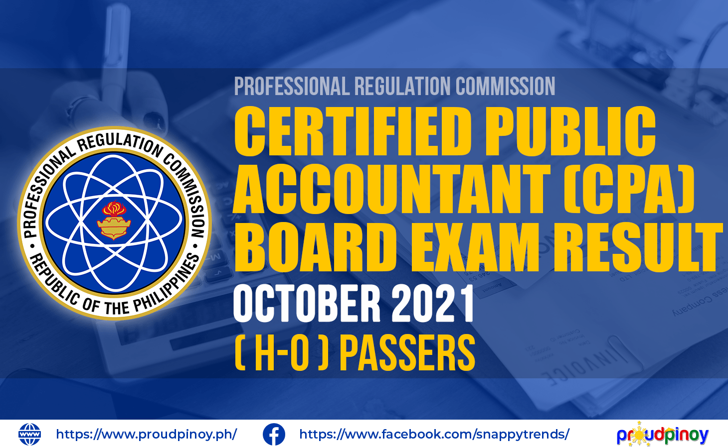 (H-O) Passers: CPA Board Exam Results October 2021