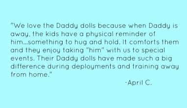 Daddy Dolls: The perfect solution for when your kids miss a loved one
