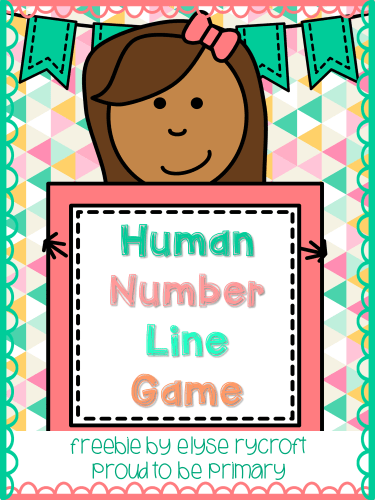 human number line game