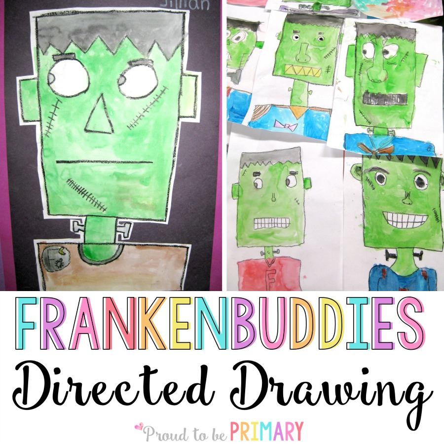 Halloween Directed Drawings.The Frankenstein Drawing Any Child Can Create Great For Your Class