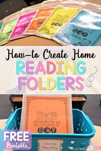 how to create home reading folders - free printable