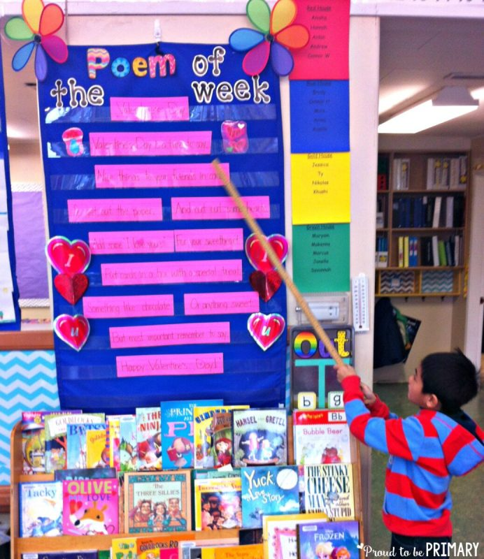 poetry activities - poem of the week choral reading