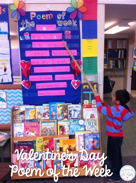 valentine's day activities for elementary school - poem of the week