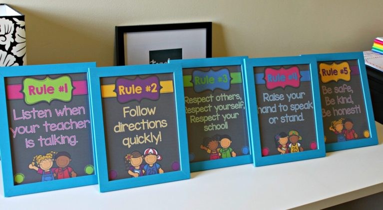 whole brain classroom rules posters in frames