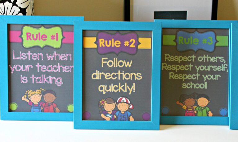 whole brain classroom rules posters