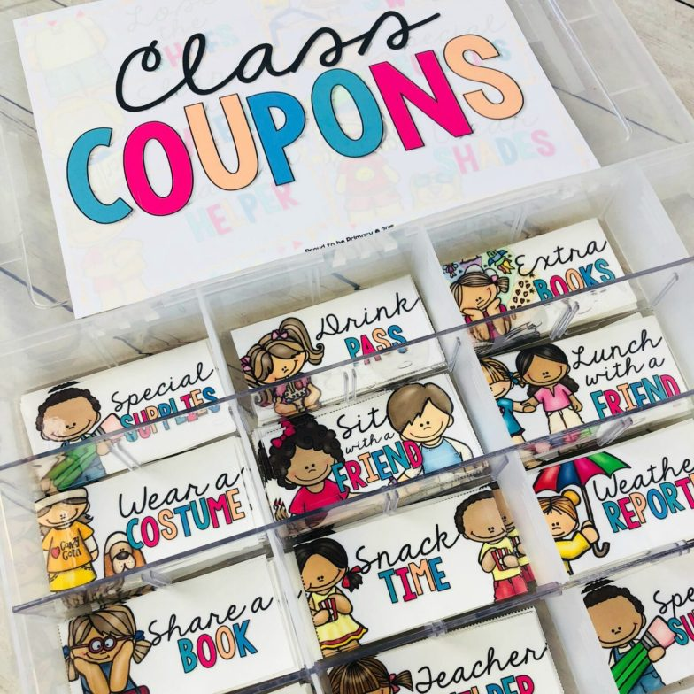 coupons for kids - box full of class coupons