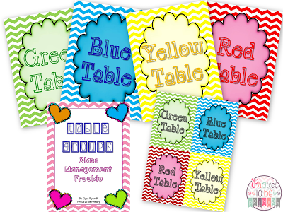 classroom management ideas table groups freebie
