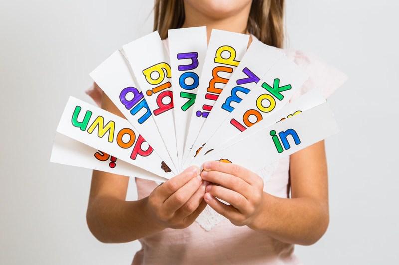 sight word rainbow word cards