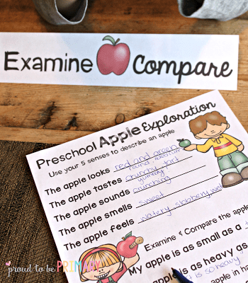 apple activities - examine and compare