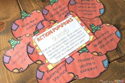 fun Halloween activities for kids - action pumpkins
