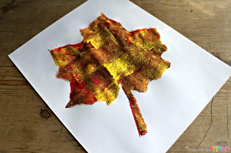 Fall Art Projects: sponge art activity