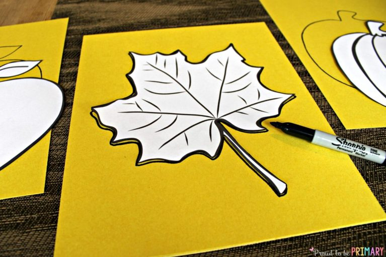 Fall Art Projects: leaf