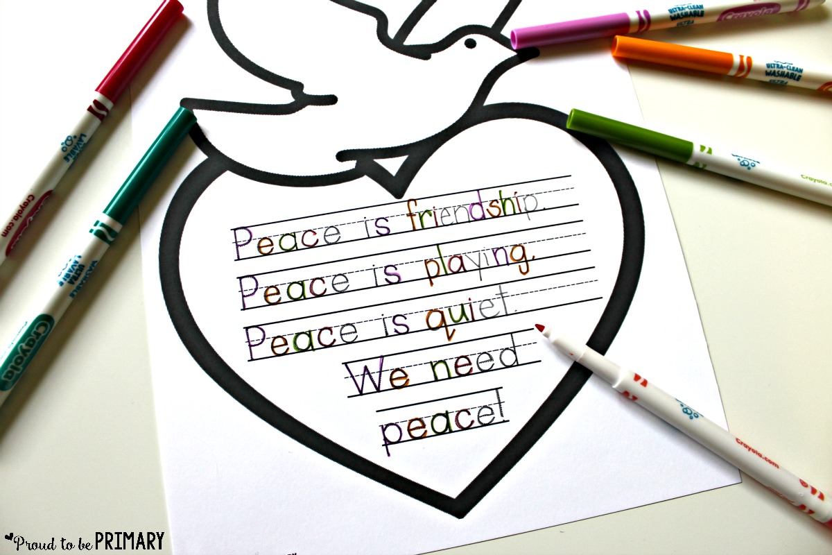 Worksheet On Peace