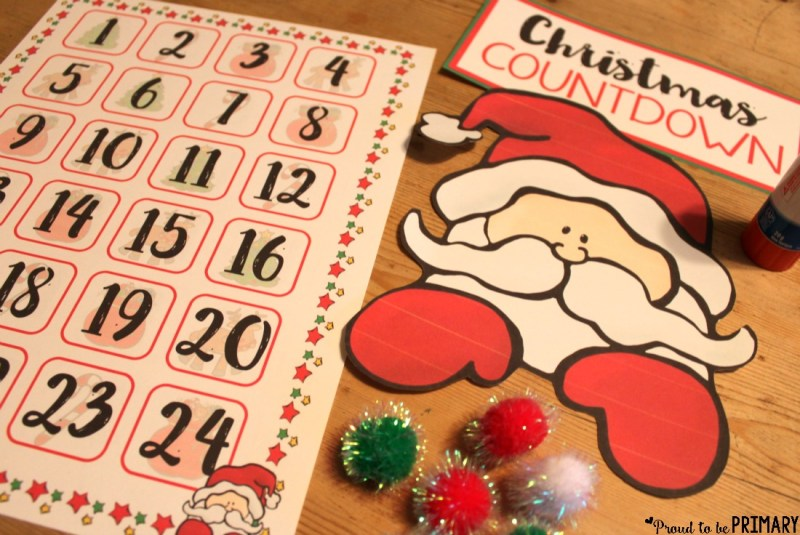Count the days until Christmas with this DIY Christmas Holiday Countdown! Kids can countdown with Santa and Frosty the Snowman and get excited as that special days draws near!! Grab the FREE printable sign to hang and use with pom poms.