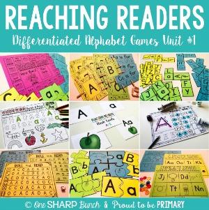Reaching Readers Differentitaed Alphabet Games Unit 1