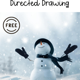 Snowman Directed Drawing Art Activity for Kids